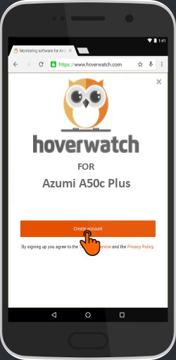 Mobile Keylogger for Azumi A50c Plus