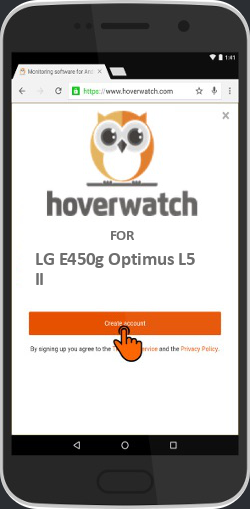 Android Keylogger Spy for LG E450g Optimus L5 II