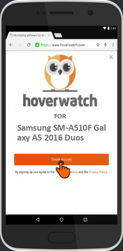 Free Mobile Keylogger Software for Samsung SM-A510F Galaxy A5 2016 Duos