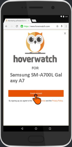 Spy Location Tracker Android for Samsung SM-A700L Galaxy A7