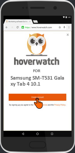 Spyware Cell Phone Tracker for Samsung SM-T531 Galaxy Tab 4 10.1