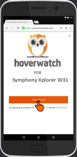 Sms and Call Tracker Online for Symphony Xplorer W31